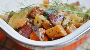 Sweet & Savory Roasted Root Vegetables