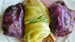 Turkish Cabbage Rolls with Tomato Basil Marinara Sauce