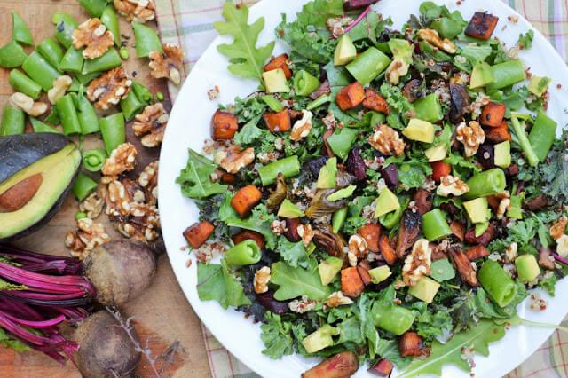 Roasted Vegetable Quinoa Kale Salad