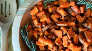 Rosemary and Garlic Roasted Sweet Potatoes