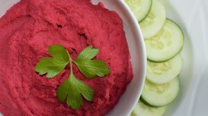Ridiculously Good Red Beet Hummus