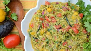 "Zucchini ""Pasta"" Salad with Creamy Cilantro Lemon Dressing"