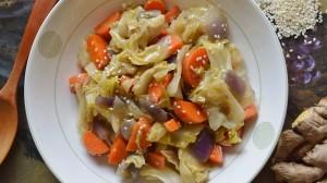 Gingered Sesame Cabbage