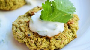 Baked Falafel with Garlic Yogurt Sauce