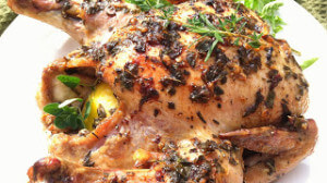 Garlic and Herb Roasted Whole Chicken