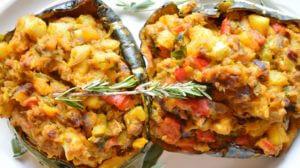 Twice-Baked Mediterranean Stuffed Squash