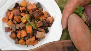 Roasted Beet and Sweet Potato